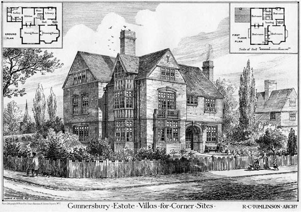 1878 &#8211; Villas for Corner Sites, Gunnersbury Estate, London