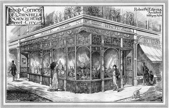 1878 – Shop Corner, Cornhill & Gracechurch Street, London