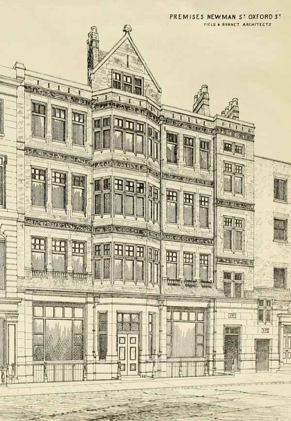 1880 – Premises, Newman Street, Oxford Street, London