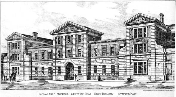 1898 – Royal Free Hospital, Grays Inn Road, London