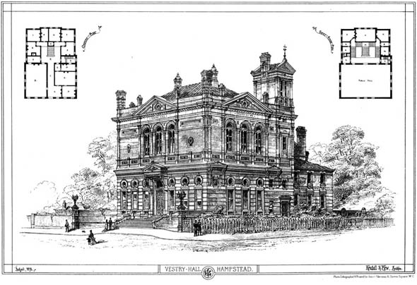 1878 &#8211; Vestry Hall, Hampstead, London