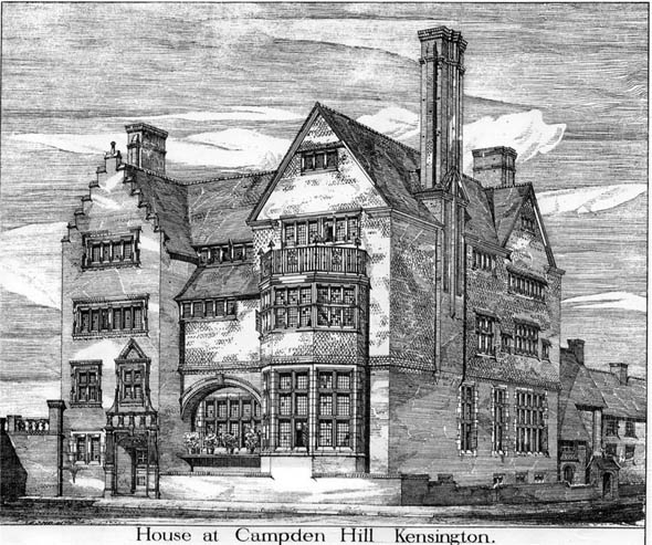 1878 &#8211; House at Campden Hill, Kensington, London