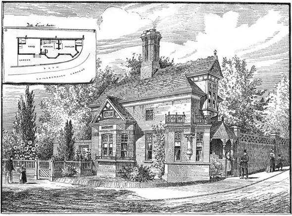 1888 – Gardeners Cottage, Gainsborough Gardens, Hampstead, London