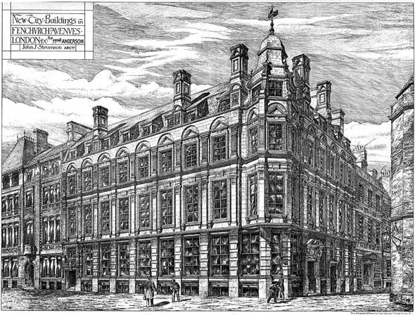 1878 &#8211; New City Buildings, Fenchurch Avenue, London