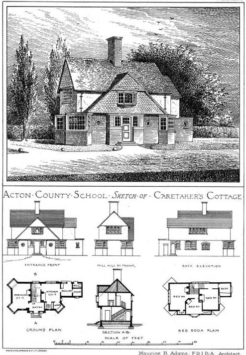 1904 &#8211; Caretakers Cottage, Acton County School, London