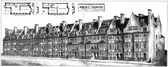 1903 &#8211; Rebuilding of Hornton Street, Kensington, London