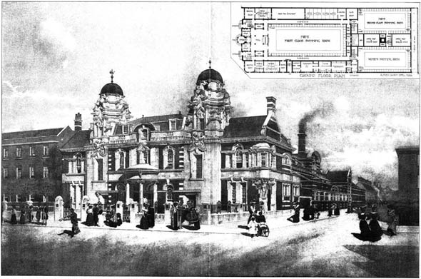 1905 – The Public Baths, Stratford, London