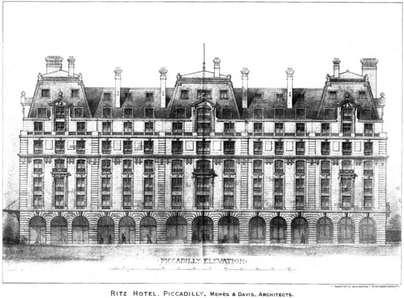 1903 – Ritz Hotel, Piccadilly, London