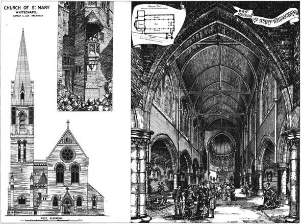 1877 &#8211; New Church of St.Mary, Whitechapel, London
