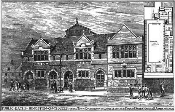 1897 &#8211; Public Baths, Kingston on Thames, London