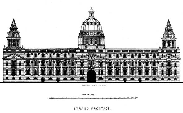 1900 &#8211; Strand Improvement Scheme, Design Numbered 20, London