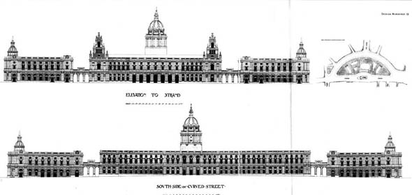1900 &#8211; Strand Improvement Scheme, Design Numbered 19, London