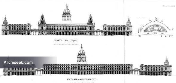 1900 – Strand Improvement Scheme, Design Numbered 19, London