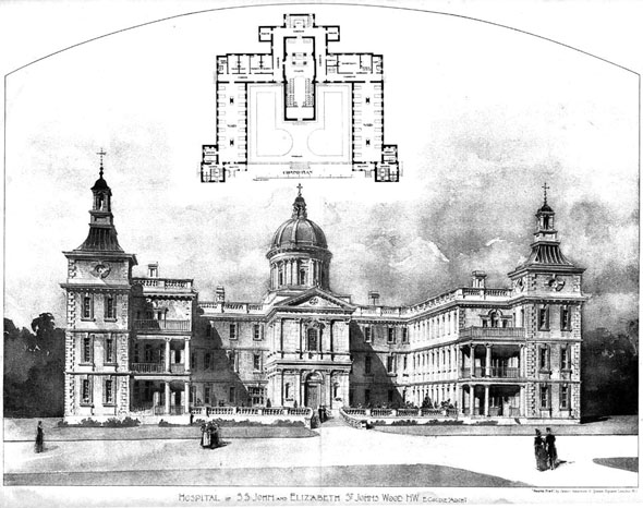1899 &#8211; Hospital of S.S. John &#038; Elizabeth, St. Johns Wood, London