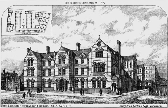 1877 – East London Hospital for Children, Shadwell, London