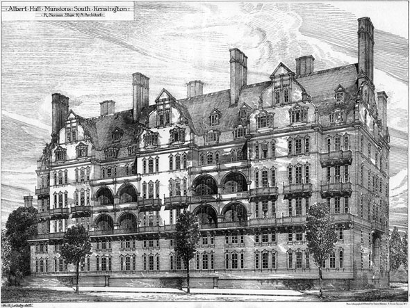 1881 &#8211; Albert Hall Mansions, South Kensington, London