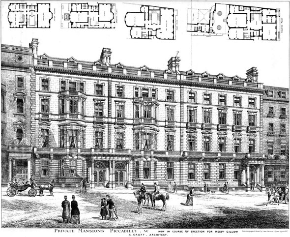 1888 – Private Mansions, Piccadilly, London