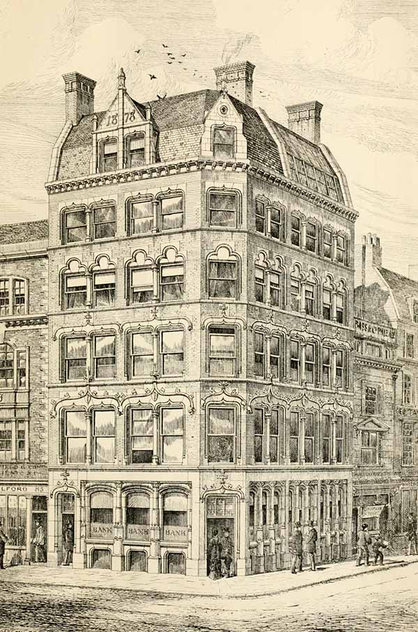1878 – Corner Premises, Newgate & King Edward Street, London
