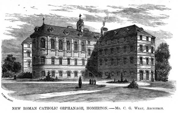 1882 – New Roman Catholic Orphanage, Homerton, Hackney, London
