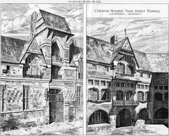 1882 – Children's Hospital, Mark Street, Finsbury, London
