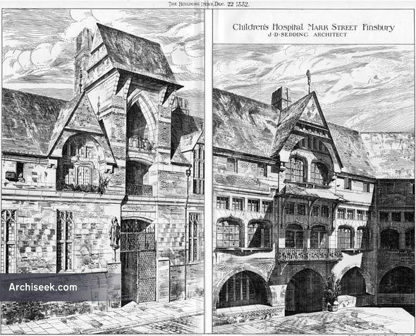 1882 – Children's Hospital, Mark Street, Finsbury, London