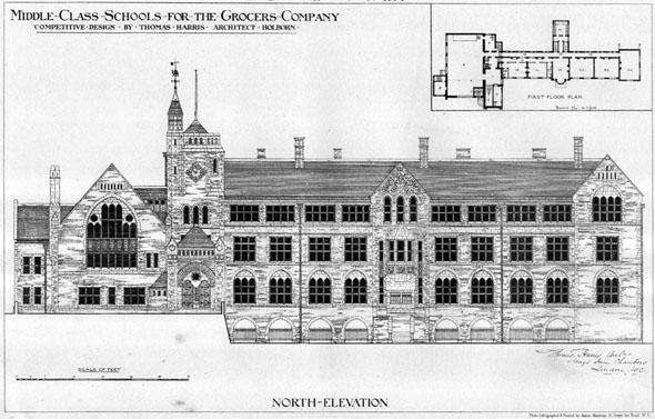 1874 &#8211; Middle Class Schools for the Grocers Company, Hackney, London