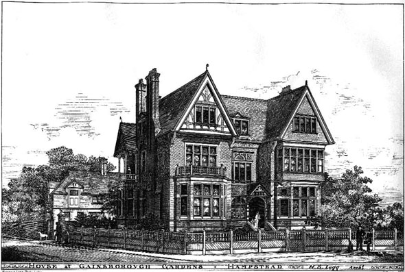 1885 – House at Gainsborough Gardens, Hampstead, London