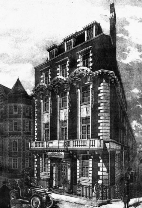 1906 &#8211; Symonds Hotel, 34 Brook Street, Mayfair, London
