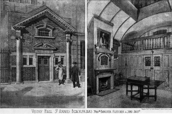 1906 – St. Annes Vestry Hall, Blackfriars, London