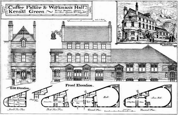 1880 &#8211; Coffee Palace &#038; Workman&#8217;s Hall, Kensal Green, London