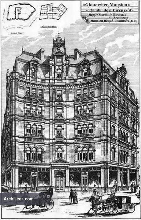 1892 – Gloucester Mansions, Cambridge Circus, London