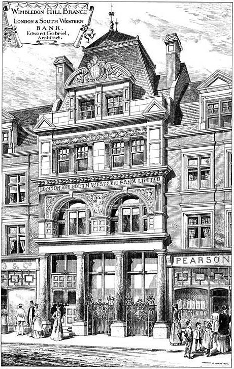1892 &#8211; Wimbledon Hill Branch, The London &#038; South Western Bank, London