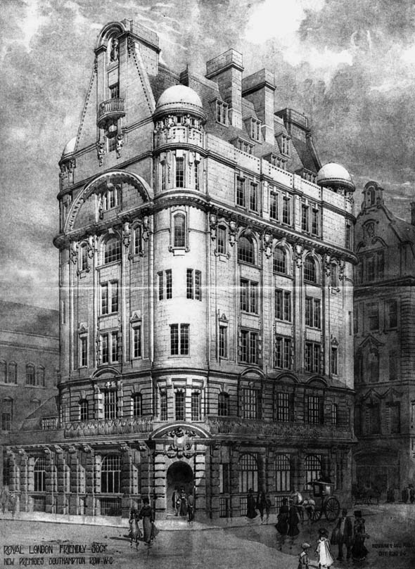 1906 &#8211; Royal London Friendly Society, Southampton Row, London