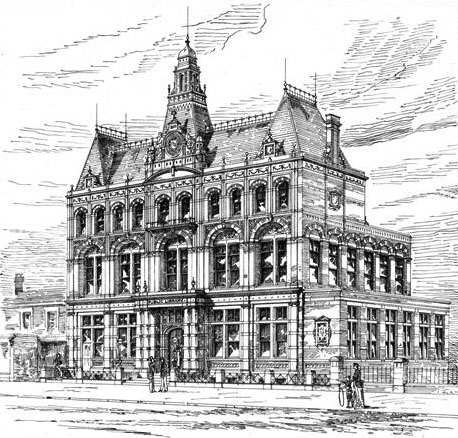 1892 &#8211; New Public Library, Bermondsey, London