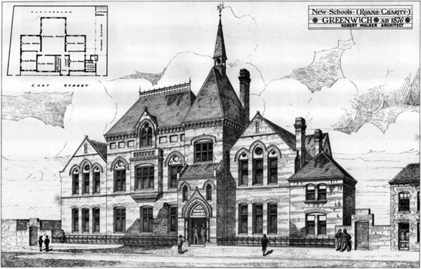 1876 – New Schools, Greenwich, London