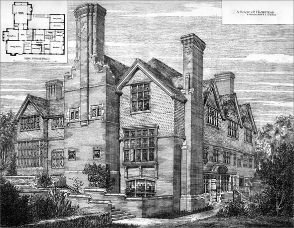 1882 &#8211; House at Hampstead, London