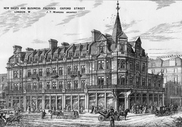 1877 – New Shops & Business Premises, Oxford Street, London