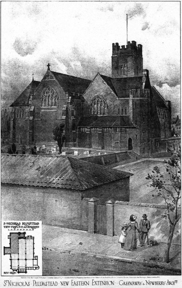 1908 &#8211; St. Nicholas Church, Plumstead, London