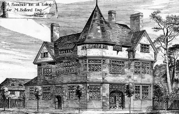 1885 – A Roadside Inn at Ealing, London