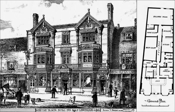 1885 – The Black Bull, High Street, Lewisham, London