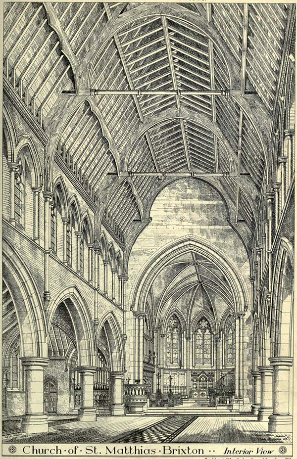 1881 – Design for  Church of St. Matthias, Brixton, London