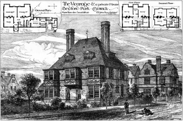 1881 &#8211; Vicarage, Bedford Park, Chiswick, London