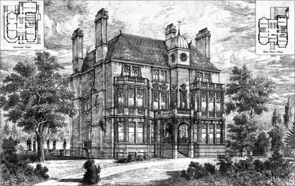 1880 &#8211; &#8216;Beauchene&#8217;, Fitzjohn Avenue, Hampstead, London