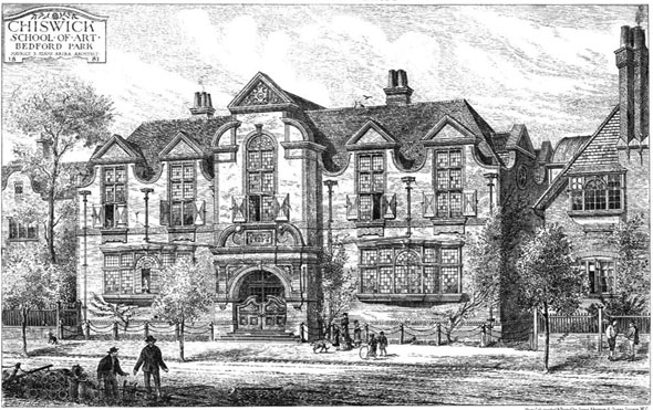 1881 – Chiswick School of Art, Bedford Park, London