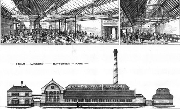 1881 – Steam Laundry, Battersea, London