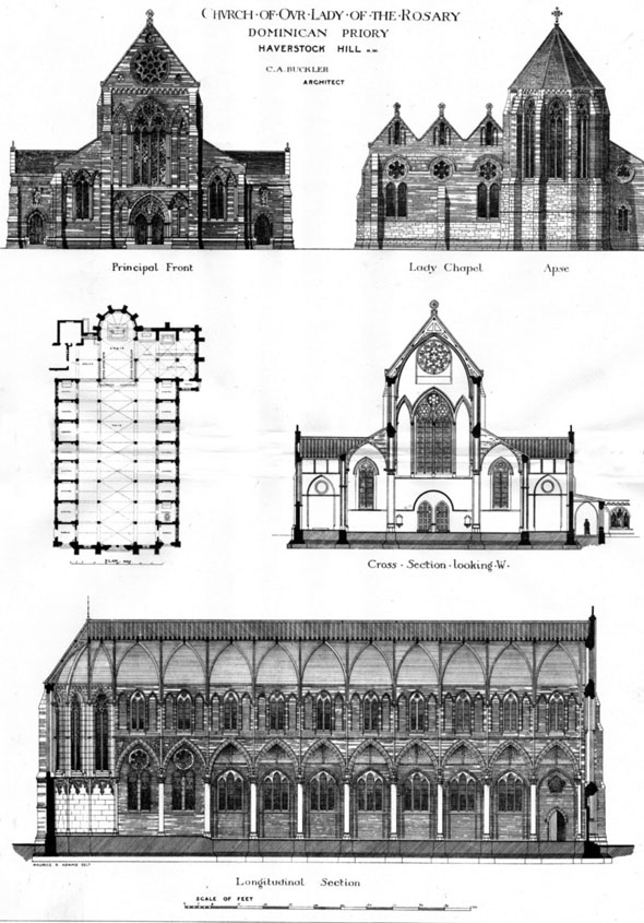 1881 – Church of Our Lady Dominican Priory, Haverstock Hill,  London
