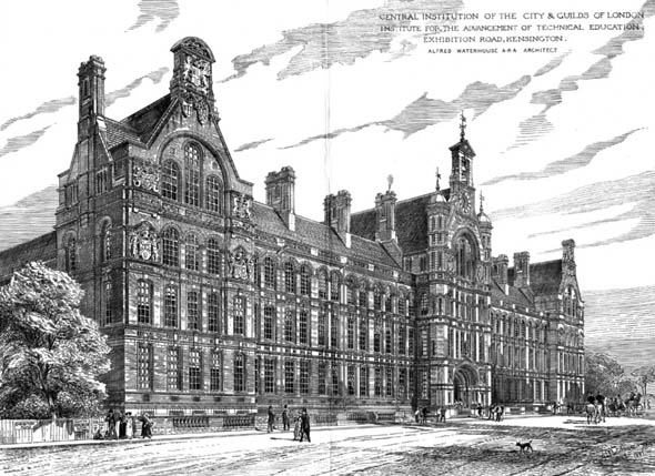 1881 &#8211; Central Institution of the City &#038; Guilds of London, South Kensington, London