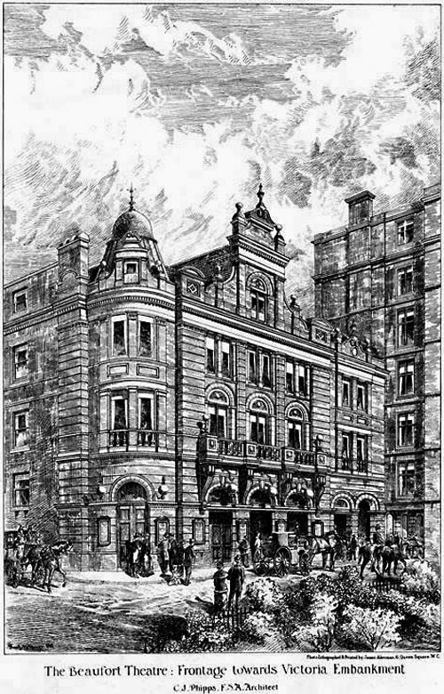 1881 &#8211; Savoy Theatre, Victoria Embankment, London