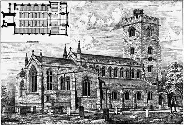 1880 – New Church of All Saints, Fulham, London