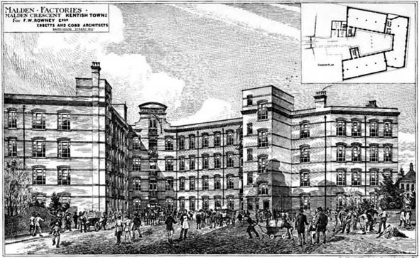 1880 – Factories, Malden Crescent, Kentish Town, London